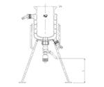 二重管式反応容器用架台