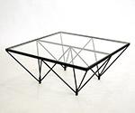 ガラステーブル クリアガラス/ブラック FT-35 クリアガラス/ブラック