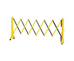 伸縮式バリケード 黄/黒 高さ1m×幅0.5~3.5m 連結可能タイプ 116131