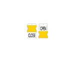 スライド表示タグ OPENCLOSE (OPEN - 黒文字 / CLOS