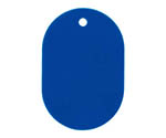 Number Plate large plain 25 sheets Blue BF40BU