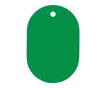 Number Plate large plain 25 sheets Green BF40GN