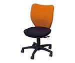 オフィスチェア ミドルバックタイプ オレンジ・ブラック