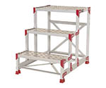 作業台 ZG-P型縞板仕様 3段 幅60cm高さ75cm等
