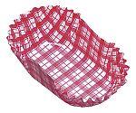 紙カップ ココケース小判型(500枚入) 8号 赤 XAZ3805