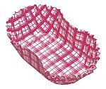 紙カップ ココケース小判型(500枚入) 10号 赤