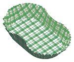 紙カップ ココケース小判型(500枚入) 11号 緑 XAZ3813