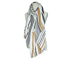 Insect Repellent Scarf Brown Striped 00-3
