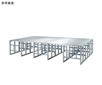 折りたたみ式アルミ製ステージH900