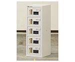 貴重品ロッカー シリンダー錠タイプ 1列5段(窓付)  NKBS-0105W