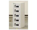 貴重品ロッカー 暗証番号錠タイプ 1列5段(窓付)  NKBA-0105W