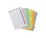 ファイル用仕切カード