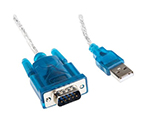 RS PRO USB 2.0, Male USB A to Male RS232, 0.5m Cable Assembly 144-5699