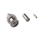 RS PRO Straight 50Ω Cable Mount BNC Connector, Plug, Nickel, Crimp Termination, RG58 546-4853