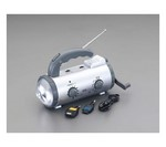 [Discontinued]Radio with LED Light [Hand Crank Power Generation] EA758-16