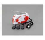 [Discontinued]Radio with LED Light [Hand Crank Power Generation] EA758-38
