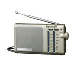 [取扱停止]164×89×37mmFM/AM薄型ラジオ