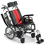 ティルト&リクライニング車椅子 (介助式/アルミ製/座幅400mm)
