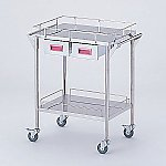 Storage Stainless Steel Cart 2 Stages Knob Pink 600 x 450 x 835mm CHS-2H-P