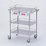 Storage Stainless Steel Cart 3 Stages Knob Pink 600 x 450 x 835mm CHS-3H-P