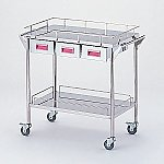 Storage Stainless Steel Cart 2 Stages Knob Pink 750 x 450 x 835mm CHW-2H-P