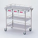 Storage Stainless Steel Cart 3 Stages Knob Pink 750 x 450 x 835mm CHW-3H-P
