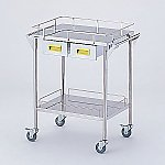Storage Stainless Steel Cart 2 Stages Knob Yellow 600 x 450 x 835mm CHS-2H-Y