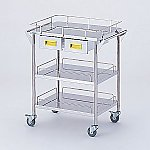 Storage Stainless Steel Cart 3 Stages Knob Yellow 600 x 450 x 835mm CHS-3H-Y