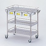 Storage Stainless Steel Cart 3 Stages Knob Yellow 750 x 450 x 835mm CHW-3H-Y
