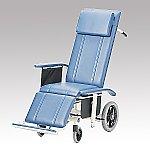 フルリクライニング車椅子 (介助式/スチール製/座幅430mm/ノーパンクタイヤ) NHR-16