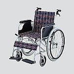 車椅子 (自走式/アルミ製/介助ブレーキ付き)