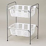 Clothes Basket Wagon/2 Racks White Without Caster and others