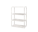 [Discontinued]4 Stages Pole Shelf (Antibacterial And Anti-Mold ERECTA (R)) 900 x 450 x 1800 without Caster Cream Gray and others