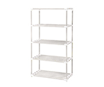 [Discontinued]5 Stages Pole Shelf (Antibacterial Anti-Mold ERECTA (R)) 900 x 450 x 1800 without Caster Cream Gray and others
