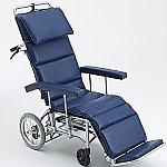 フルリクライニング車椅子 (介助式/アルミ製/座幅460mm/エアータイヤ)